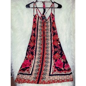 Strappy Printed Dress